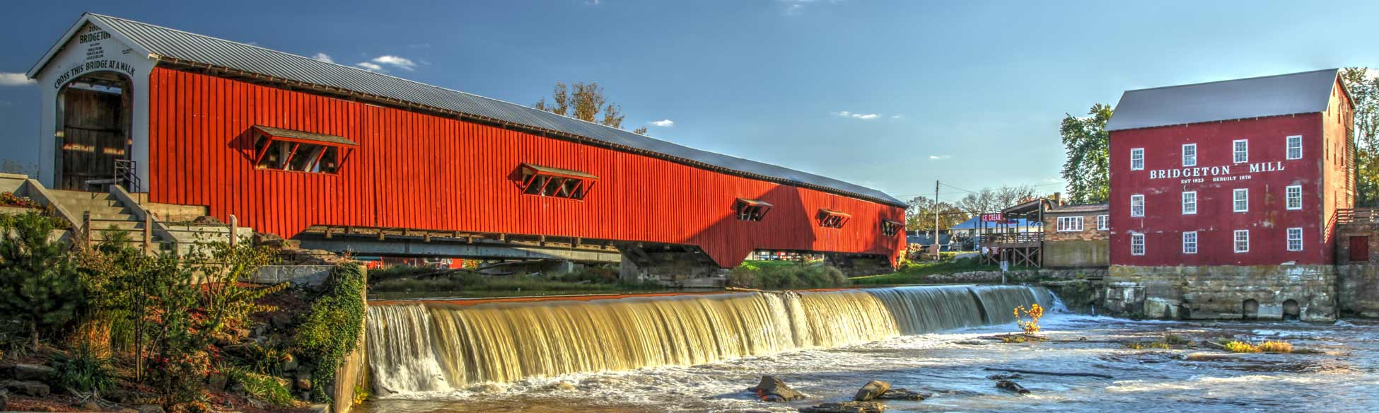 Bridgeton Covered Bridge and Mill, Bridgeton, Indiana